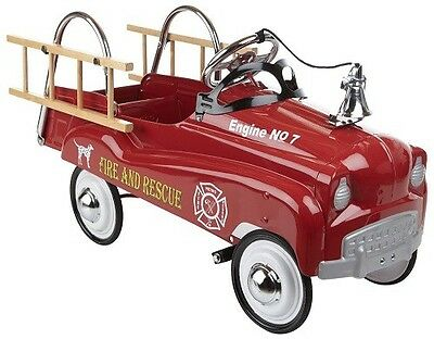 Fire Truck Engine Pedal Car Ride Red Toy Instep Peddle Riding Vintage Classic
