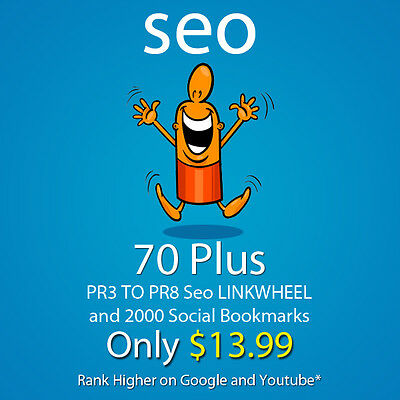 70 Plus PR3 to PR8 seo LlNKWHEEL and 2000 social bookmarks