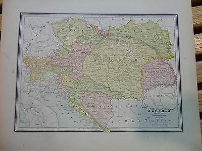 Nice colored map of Austria or Germany.  Cram's Atlas of the World.