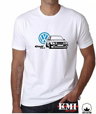 Camiseta Volkswagen VW GOLF MK2 T-shirt  **CALIDAD 100%**