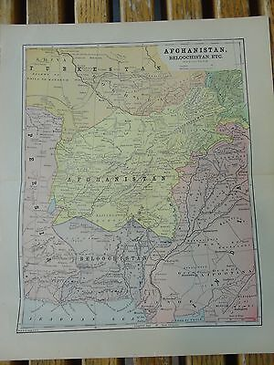 Nice colored map of Afghanistan.  Pub. in 1895 in The People's Cyclopedia.