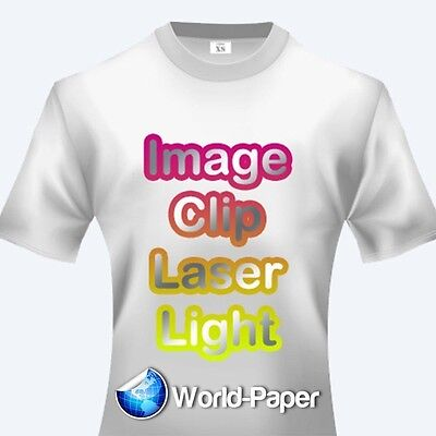 """LASER TRANSFER FOR WHITE FABRIC: IMAGE CLIP LIGHT  8.5""""x11"""" (50ct each/2 sets)"""