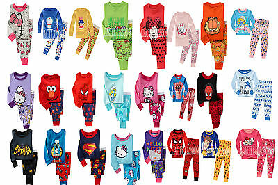 2T-3T-4T-5T-6T-7T Soft 100%Cotton Girls Boys Children's Unisex Kid Sleepwear New