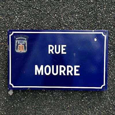 French Street Enamel Sign Plaque - RARE FROM AVIGNON metal mourre