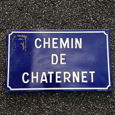 French Street Enamel Sign Plaque - RARE FROM AVIGNON metal chaternet