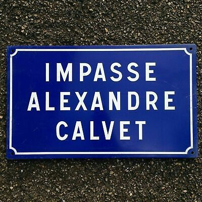 French Street Enamel Sign Plaque - RARE FROM AVIGNON metal calvet