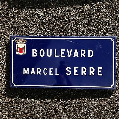 French Street Enamel Sign Plaque - RARE FROM AVIGNON metal serre