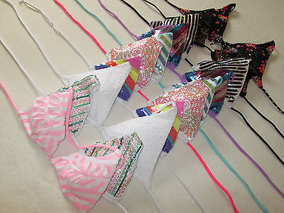 NEW Victoria Secret Beach Sexy Triangle String Bikini Padded Halter Swimsuit Top