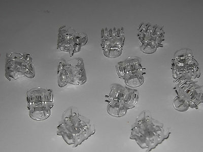 @ Black Clear @ Mini Hair Claw Clamps~Hair Clips~Hair Grips~Bulldog Clips X 12 .