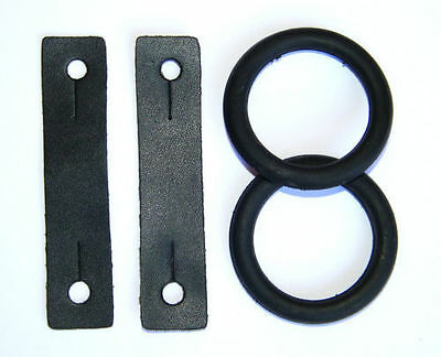 Peacock Leathers & Rubber Rings - Peacock Safety Stirrup Leathers & Rings
