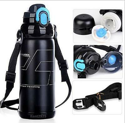 Stainless Steel Insulated Thermos Flask Water Bottle Mug for Outdoor Sports
