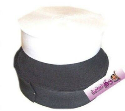 BLACK WHITE OR PINK  STRETCH ELASTIC ALL Sizes 19 mm to 75 mm FLAT ELASTIC WAIST