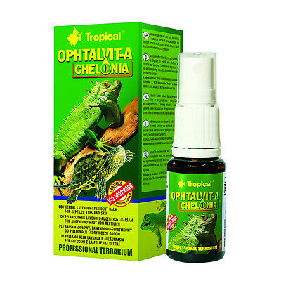 Tropical Ophtalvit-A Chelonia Herbal lavender-eyebright balm for reptiles' eyes