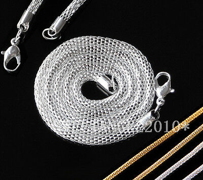 "Nice 6Pcs hollow necklace Lobster clasp Claw Chain for jewelry making 17"" #LK"