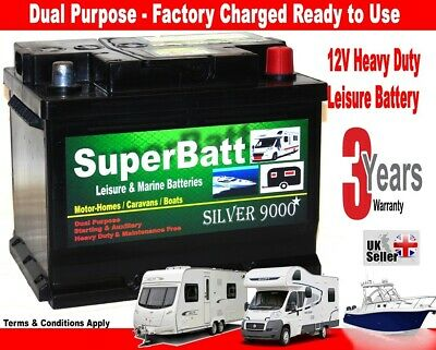 12V 65AH Leisure Battery SuperBatt LH65 Motorhome / Caravan / Campervan