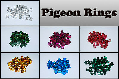 Pigeon Rings Aluminum Multi Color Leg Rings For Pigeons, USA Fast Shipping