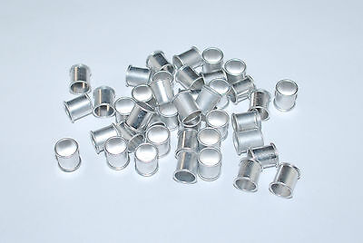 10pcs Silver aluminum pigeon rings, leg bands for pigeons US Seller