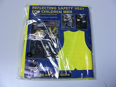 Childrens / Kids Hi Vis Fluorescent Reflective Car Safety Vest Jacket Age 3 -12
