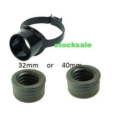 Plastic Soil Pipe110mm Strap on Boss  (black) 110*63mm WITH 40MM OR 32MM REDUCER