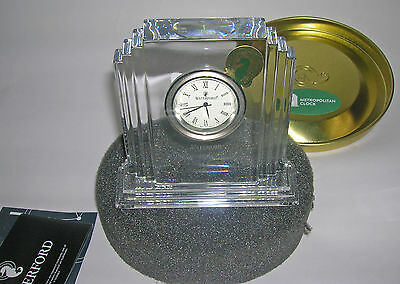 NEW! - Waterford Lead Crystal Metropolitian Clock - made in Slovenia