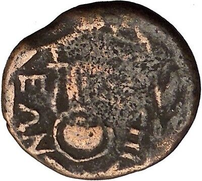 Thespiai in Boeotia 146BC Female Modius Lyre Music Instrument Greek Coin i38980