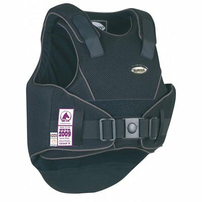 Champion Flexair Adult Body Protector Black/Grey Regular Back - Horse Riding