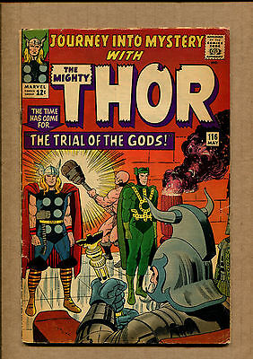 Journey Into Mystery #116 - Loki Cover Story! - 1965 (Grade 3.0) WH