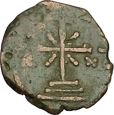 Manuel I  Comnenus 1143AD Ancient Byzantine Coin Labarum Cross on 3 steps i40109