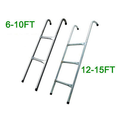 8 10 12 13 14 15 Ft Trampoline Replacement 2 3 Steps Ladder Outdoor Sport