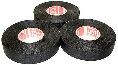 3x TESA 51026 19mm x 25m Adhesive Cloth Fabric Tape Made in Germany from Germany