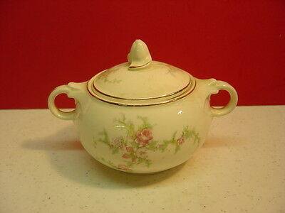 Taylor Smith & Taylor China BRIDES BOUQUET Sugar Bowl with Lid