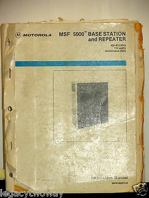 Motorola MSF5000 Base Station & Repeater Instruction Manual 68P81062E75