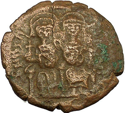 Justin II & Queen Sophia 565AD Large Ancient Medieval Byzantine Coin  i40172