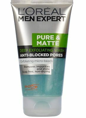 L'Oreal Men Expert Pure and Matte Deep Exfoliating Wash 150ml