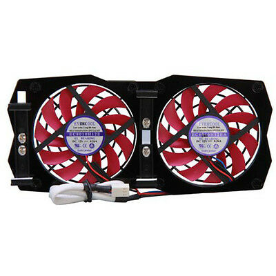 Evercool Dual Adjustable 80mm VGA Video Card Replacement Cooler Fan RVF-2F