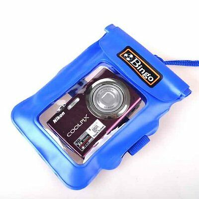 Blue Waterproof Underwater Pouch Dry Camera bag Case for Digital Camera Gift