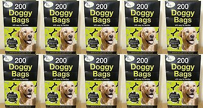 2000 X DOGGY BAGS - Scented Pet Pooper Scooper Bag Dog Cat Poo Waste Toilet Poop
