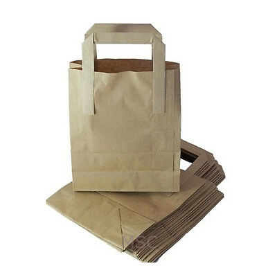 100 Small Brown Kraft Craft Paper Sos Carrier Bags Free Uk Postage