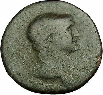 Trajan  98AD  Big Authentic RARE Ancient Roman Coin Victory Nike Cult  i40210