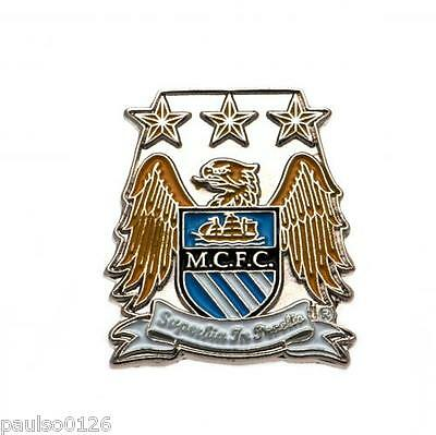 Manchester City FC Enamel Crest Pin Badge Brand New