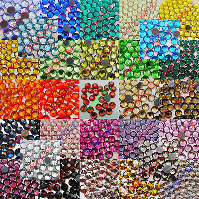 Iron-On Rhinestones Crystal DMC-Hotfix FlatBack Choose Colors & Quantity