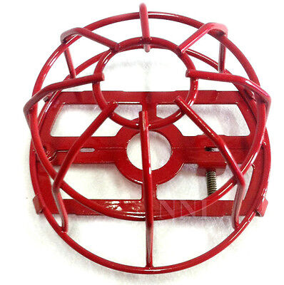 "Fire Sprinkler Headguard or Cage Heavy Duty Painted Red - for 1/2"" NPT Sprinkler"