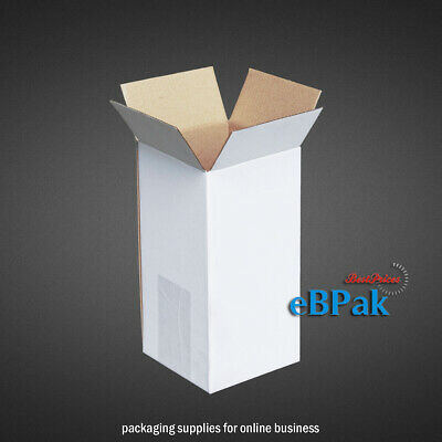20 100x100x200mm Mailing Box Long Tall Shipping Carton * Tube Replacement WHITE
