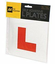 AA SELF ADHESIVE L PLATES : Quality Brand Secure PACK OF 2 : WH2 : FREE UK P&P