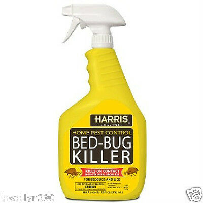 Harris Hbb-32 Bed Bug Pest Killer Spray 32Oz Ready To Use Trigger 5501838 New