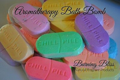 Aromatherapy CHILL PILL Bath Bomb with Coconut Oil 90g MADE IN AUSTRALIA