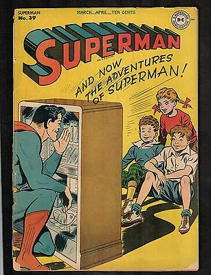 "Superman #39 ~ ""The Big Superman Broadcast"" ~ 1946 (3.0) WH"