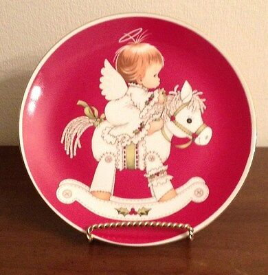 """Enesco Morehead Inc """"angel On Pony"""" Collector Plate - Great Gift"""