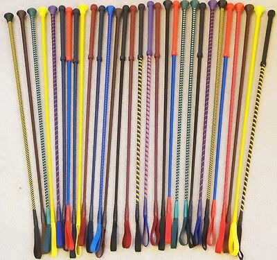 "Horse Riding Crop / Whip  ENGLISH MADE -  Loads of Colours - 26"" - FREE POSTAGE"