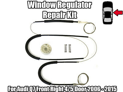 Audi Q7 Window Regulator Repair Kit Cable Front Right 2006 - On
